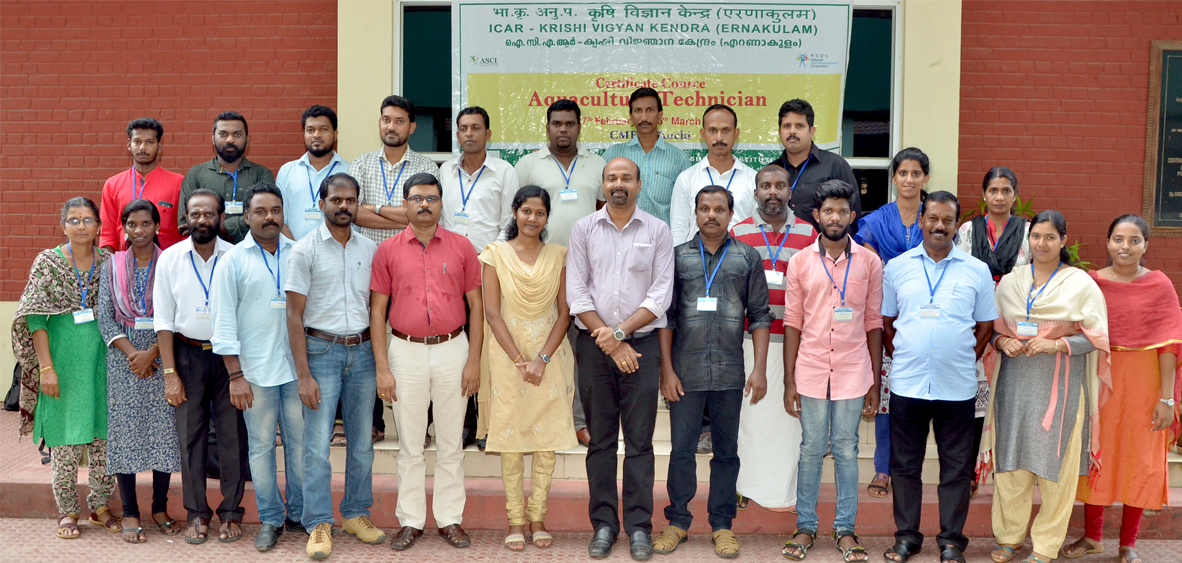 Trainees on Aquaculture Technician