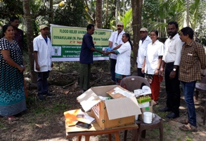 KVK Medicine distribution as part of Food relief Animal health camp web.jpg