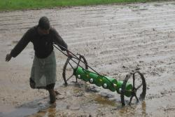 Paddy-dry-seeder-in-operation