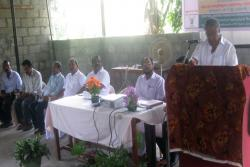 Shri.T.U.Kuruvila MLA inaugurating the workshop on carp seed production