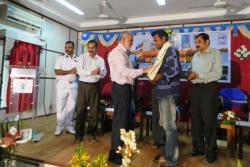 Shri.Saigal, KVKs Pokkalifarming partner being falicitated by Dr.S.Ayyappan,  DG , ICAR